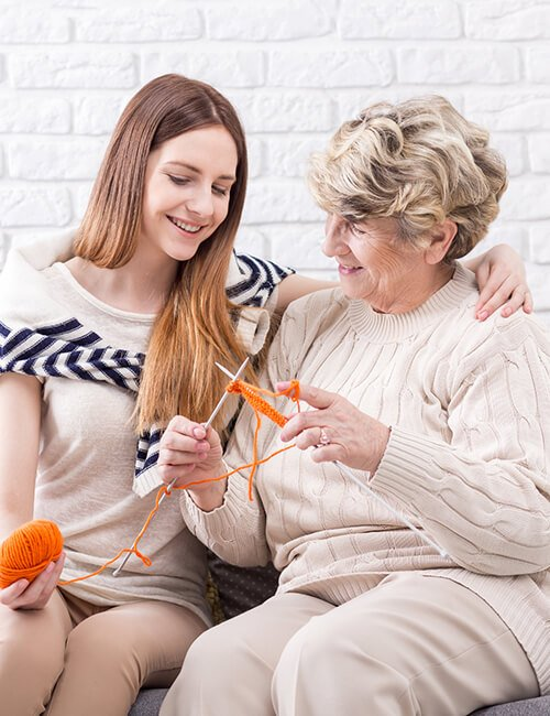 carer with live-in care client