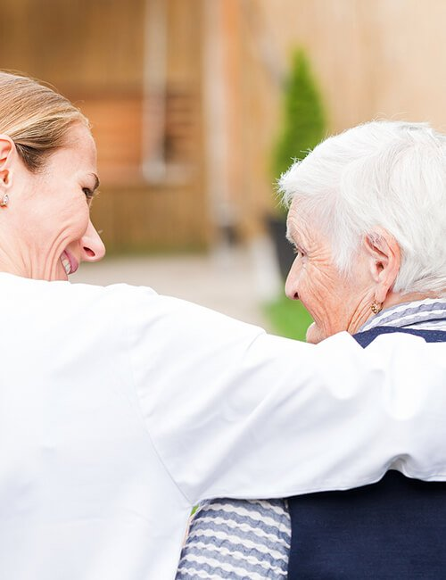 Carer with Client