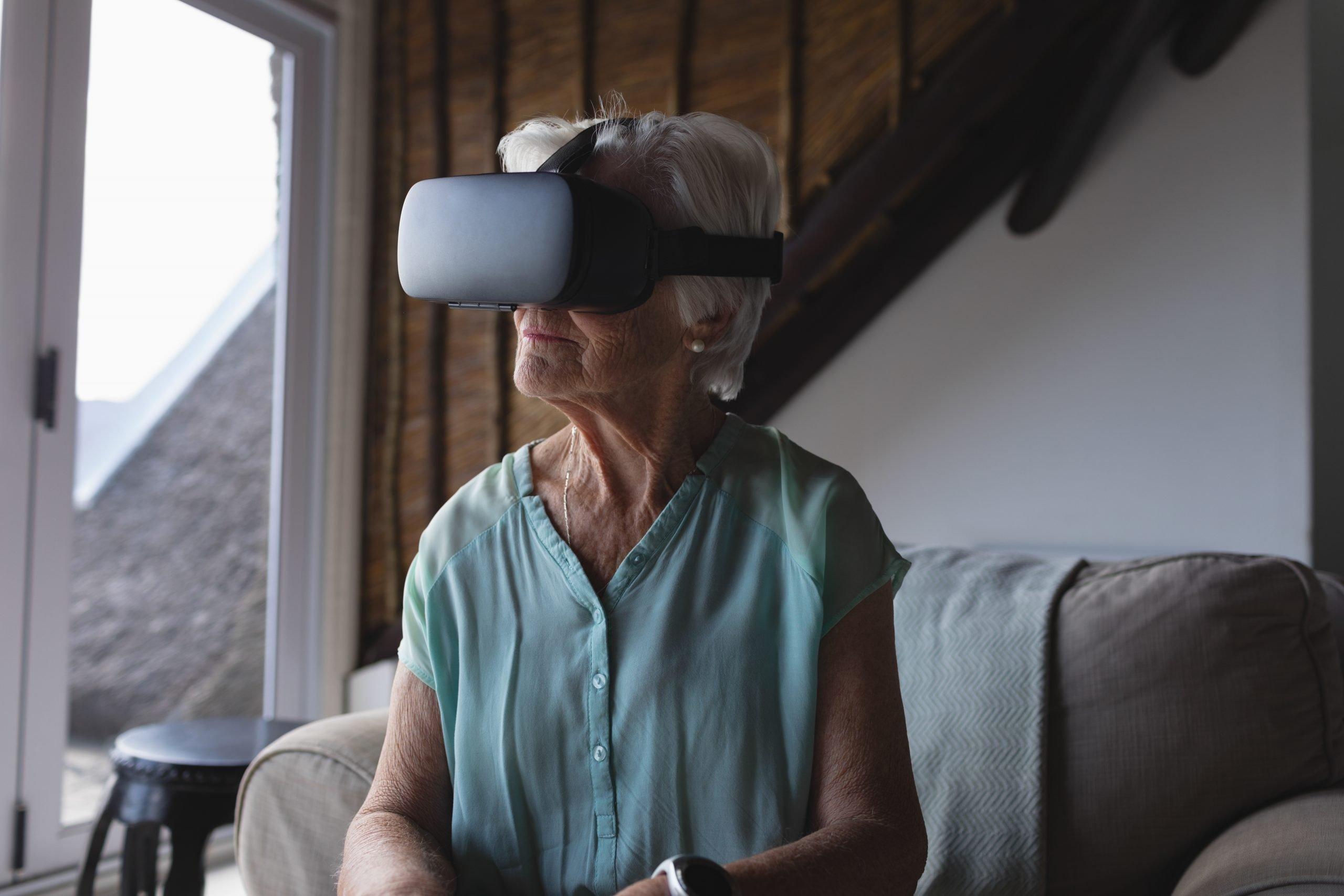 virtual reality headset senior care